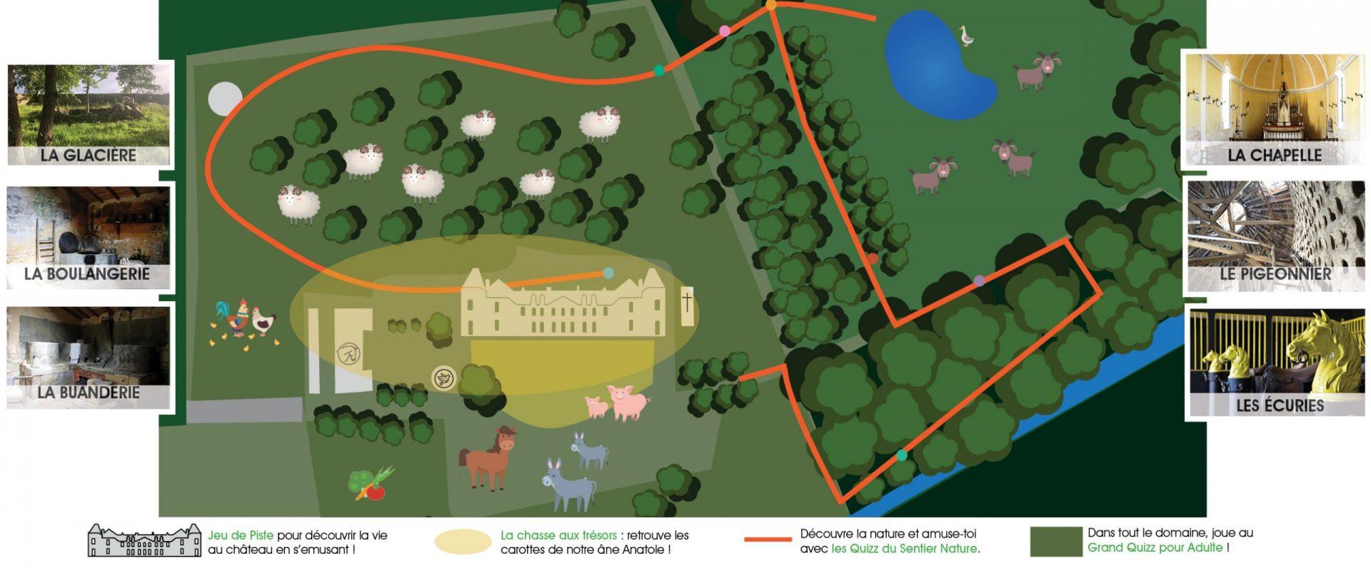 Parcours Jeux Chateau de Panloy
